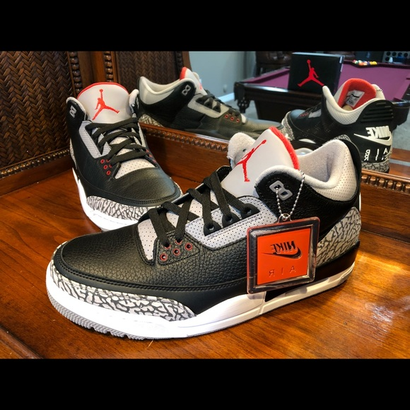 6a80d89ab59f9c Nike Air Jordan 3 Retro OG Black Cement 2018 💯🔥